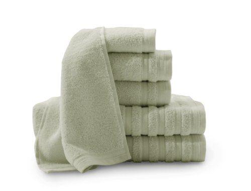 Baltic Linen Company Pure Elegance 100-Percent Turkish Cotton 6-Piece Luxury Towel Set, Sage Green BALTIC LINEN COMPANY, INC. http://smile.amazon.com/dp/B00H8PS4T4/ref=cm_sw_r_pi_dp_jgdrvb1Y7BJ1H