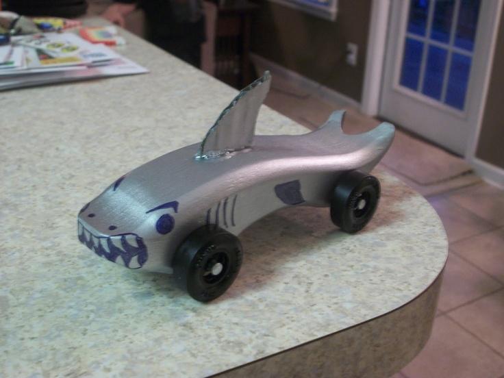 Awana grand prix shark car awana events pinterest for Pinewood derby shark template