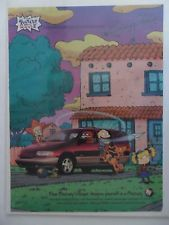 1999 Print Ad Mercury Villager Car Automobile ~ Rugrats Nickelodeon Cartoon