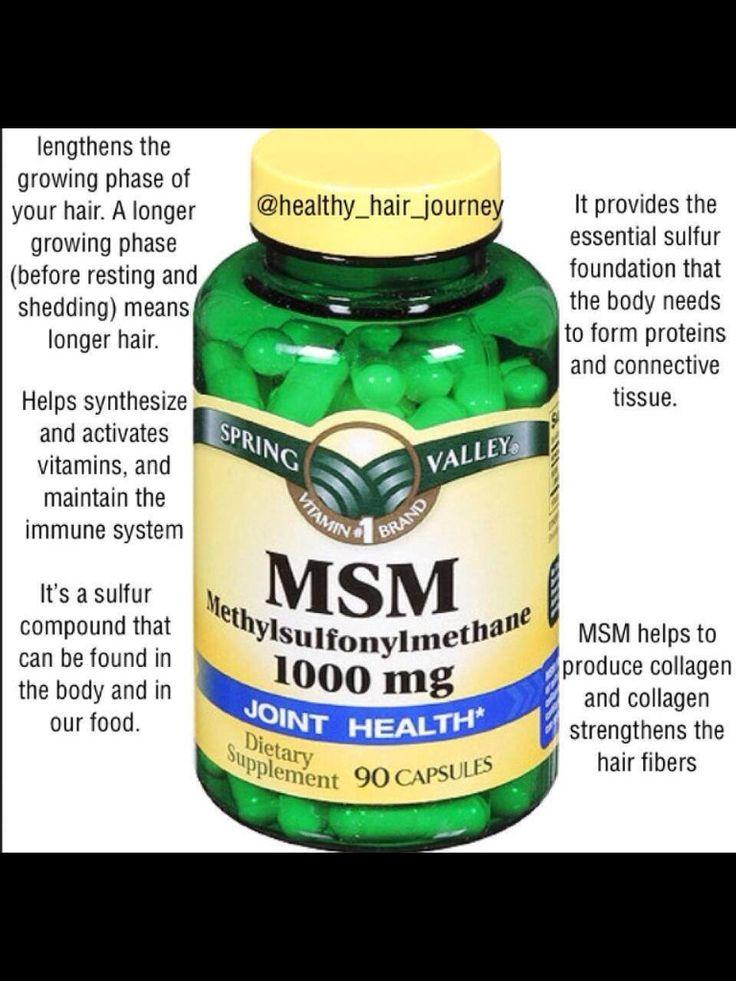 Benefits msm hair