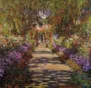 Pathway In Monets Garden At Giverny by Claude Oscar Monet