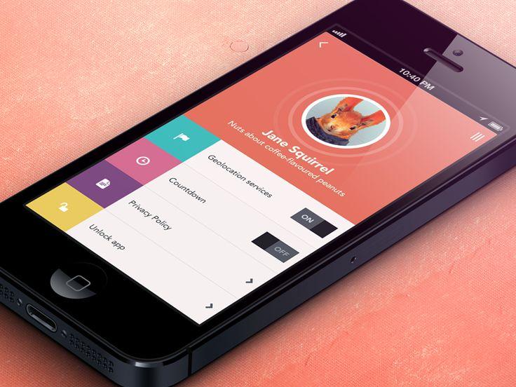 User Profile | Flat Mobile UI Design