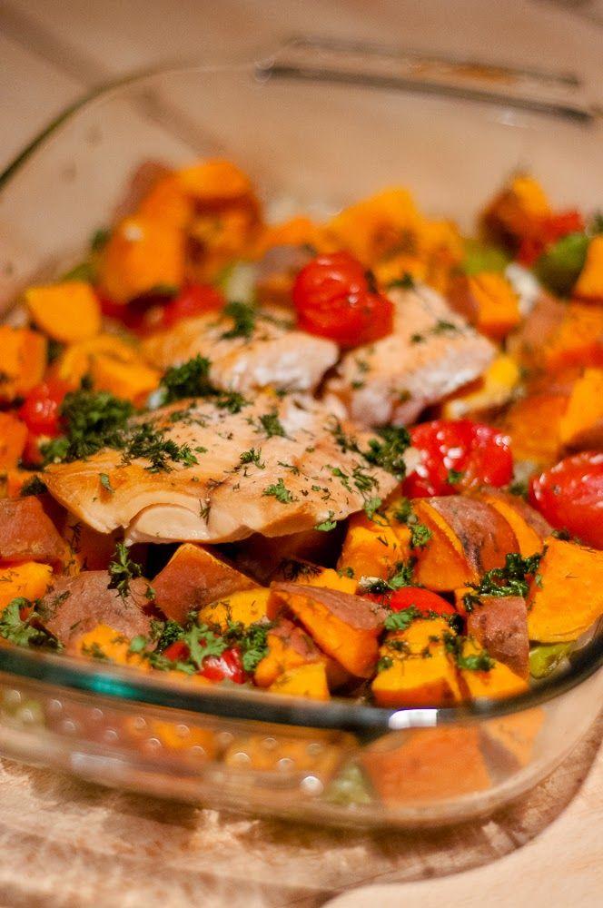Three girls one kitchen: Wat eten we vandaag: Zalige zalm uit de oven met zoete aardappel