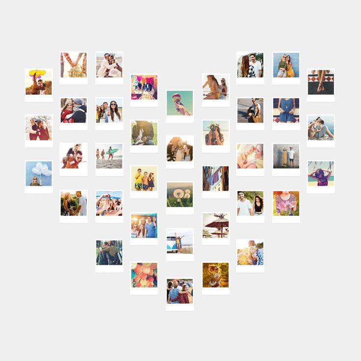 So einfach kannst Du deine Retro Bilder zu tollen Wanddekorationen anordnen.   Hier findest Du alle Ideen. #polaroid #foto #wanddeko