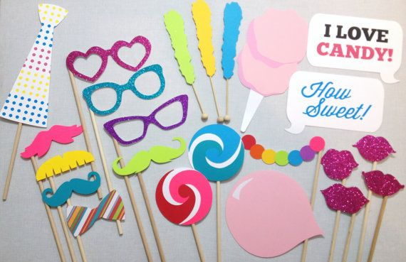 Custom Candyland Props for Dana - 25 Candy Photobooth Props