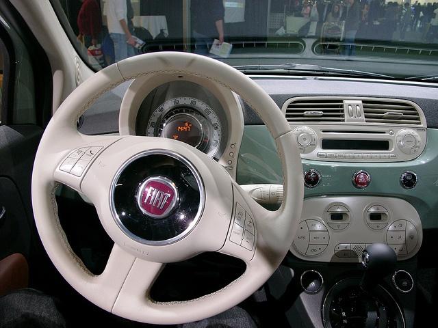Fiat 500 Interior. Slick.