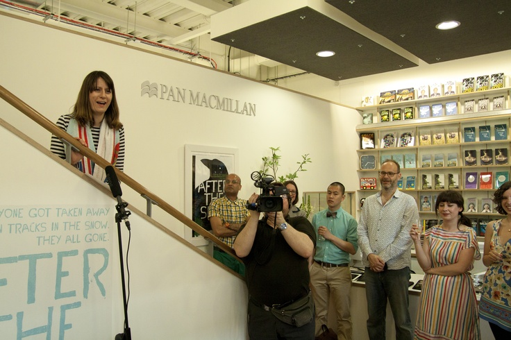Sophie Rochester of The Literary Platform announces winner of the Douglas Adams animation competition
