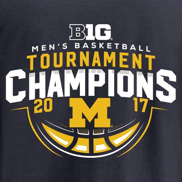 Michigan Wolverines Fanatics Branded 2017 Big Ten Men's Basketball Tournament Champions Long Sleeve T-Shirt - Navy