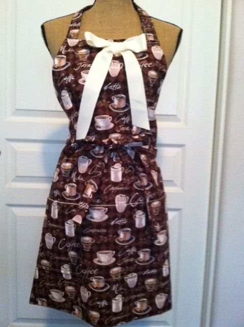 Coffee print apron
