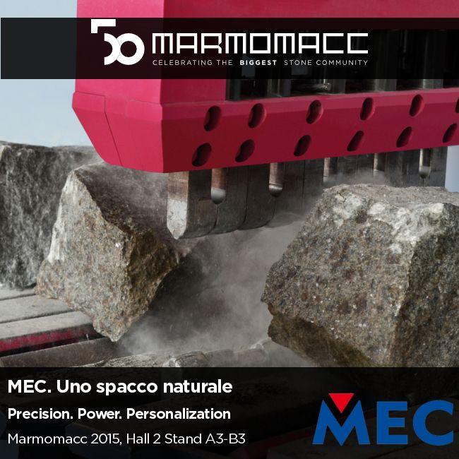 #Marmomacc 2015: Celebrating the Biggest #StoneCommunity  MEC. Uno spacco naturale.  Precision. Power. Personalization.  Scopri di più ►► http://www.mecs.it/it/