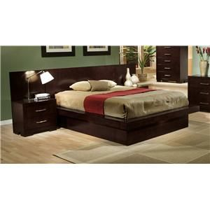 Jessica King Pier Platform Bed with Rail Seating and Lights ...  - minus the back panel