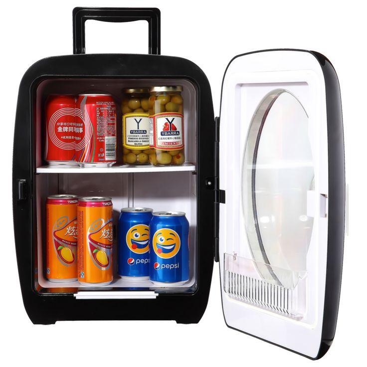 Smad 15L 12 V Mini Araba Buzdolabı Taşınabilir Termometrik Kamyon Buzdolabı Kamp Yürüyüş için 110 V/220 V Ev ofis Soğutucu Isıtıcı