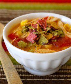 Chicken tortilla soup - Sopa rápida y sabrosa hecha en casa