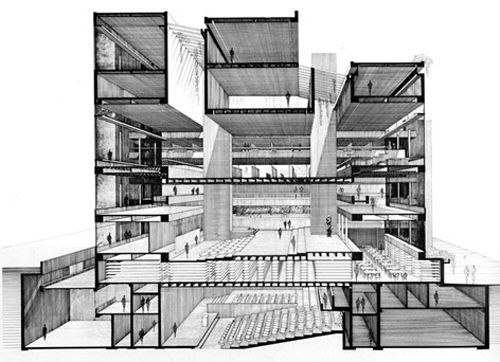 Architecture Building Drawing 221 best architecture images on pinterest | architectural drawings