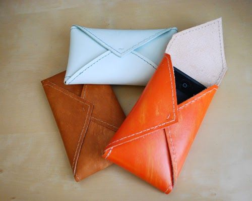 Leather Envelope Phone Case tutorial from Design Sponge