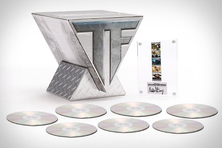 Transformers Trilogy ($90). This seven-disc set includes all three of Michael Bay's robot-on-robot battles, including Transformers, Transformers: Revenge of the Fallen, and Transformers: Dark of the Moon, all packaged in a trophy display along with a movie plaque signed by the infamous director himself
