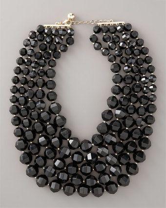 Black Bib Necklace by Kate Spade
