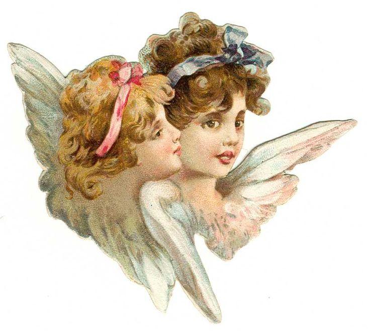 Винтажные открытки ангел, власовка красивые