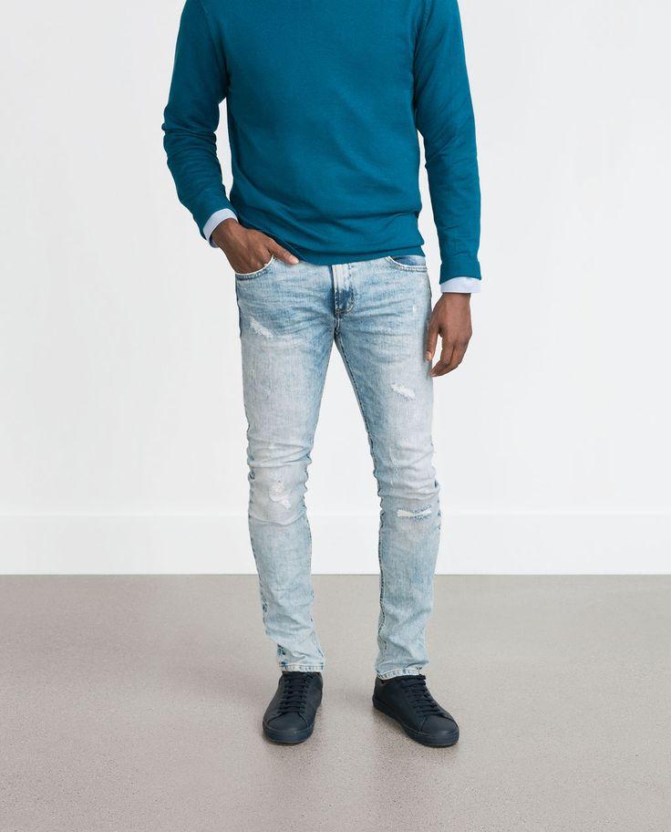 Diesel Mens Sleenker 837J Skinny Jeans Mens Jeans Buy Jeans for Men COLOUR-dark abrasive