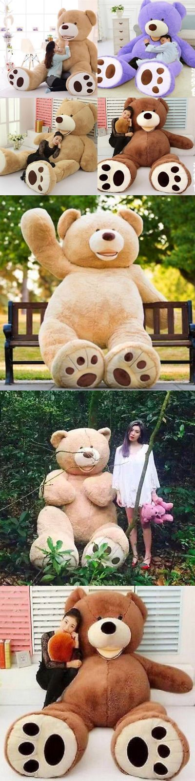 Plush Baby Toys 131084: 80Cm~340Cm Giant Big Cute Plush Stuffed Teddy Bear Soft 100% Cotton Toy Gift -> BUY IT NOW ONLY: $59.99 on eBay!