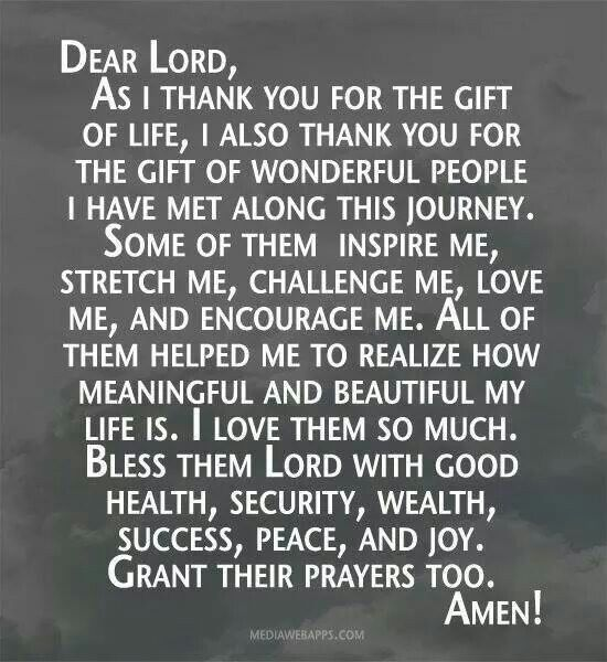 Gift of Wonderful People Prayer