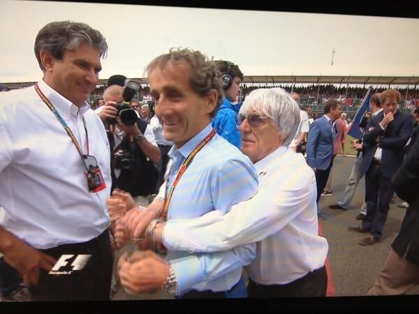 Bernie Ecclestone and Alain Prost #BritishGP 2014