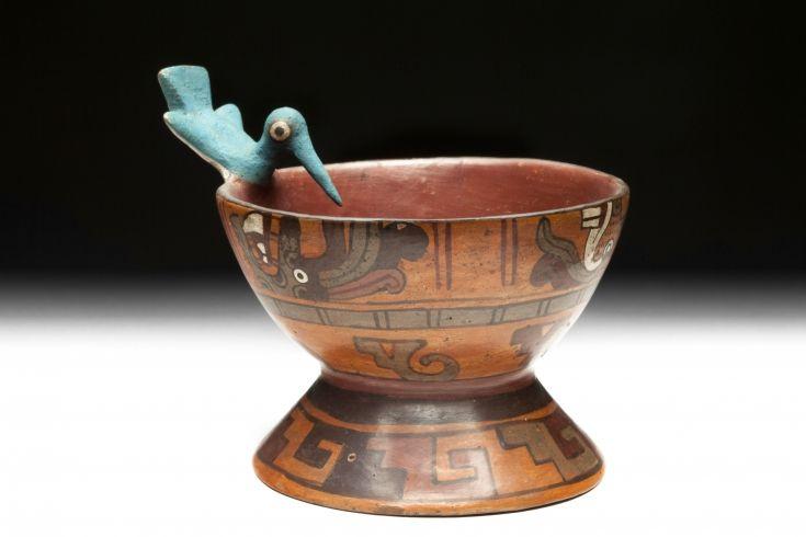 9/ MIXTEQUE - Copa del colibrí. -8cm, Tombe I Zaachila. Registre inf: motif de…