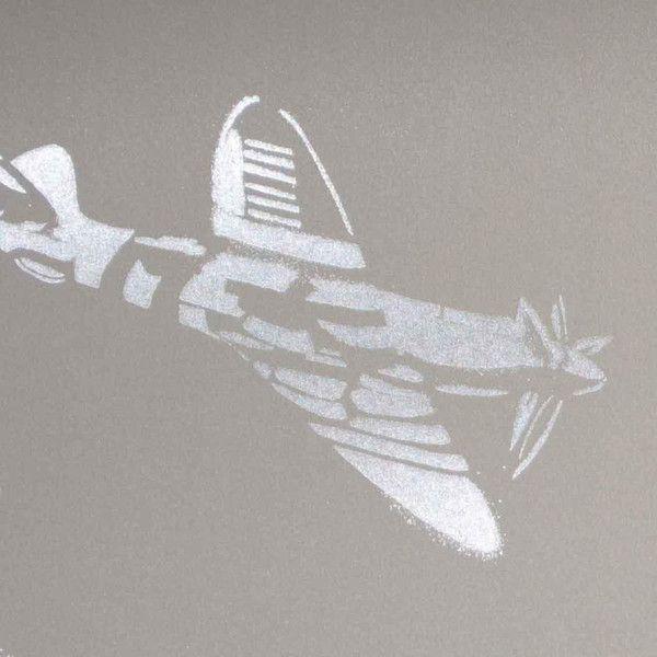 PaperBoy Wallpaper | 'Spitfires' | Grey-Brown