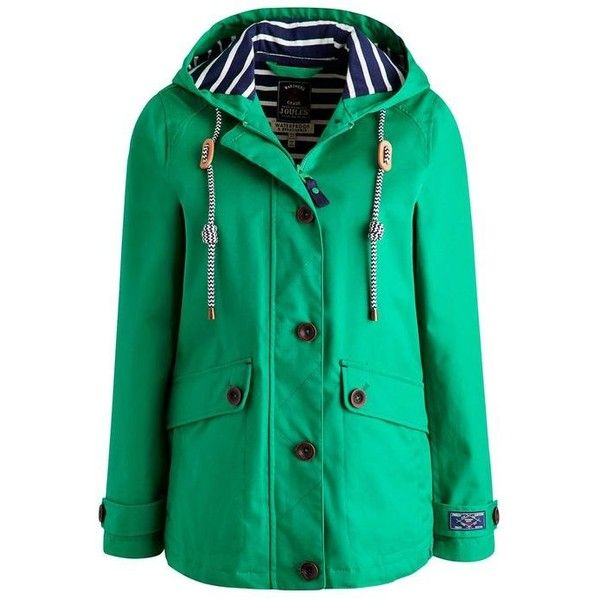 Coast Bright Green WoWaterproof Hooded Jacket | Joules US ❤ liked on Polyvore featuring tops, hoodies, bright tops, green hoodies, hooded top, green top and joules tops