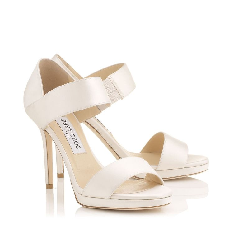 Ivory Satin Sandals | Alana | Bridal Collection | JIMMY CHOO Shoes