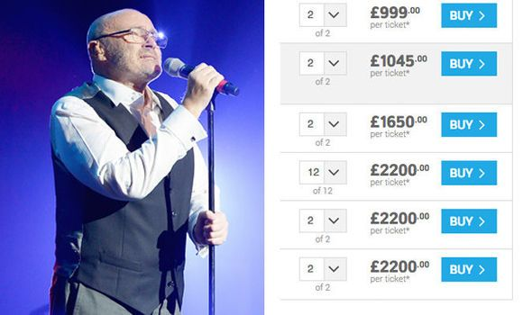 Phil Collins tour FURY: Sells out in seconds 2000 resale tickets may not even get you in