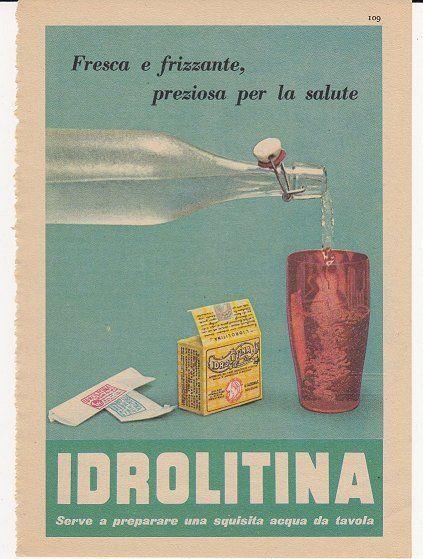 IDROLITINA BEVANDE GAZZONI BOLOGNA ACQUA 1956 PUBBLICITA´ ADV ADVERTISING - Delcampe.net