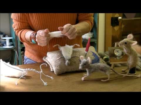 MUS ▶ How to Needle Felt - Mouse Series 4: Pelt by Sarafina Fiber Art - YouTube