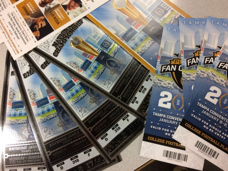 (4) GAME Tickets to the Big Game! 2017 College Football National Championship Game January 9th, 2017- 8:00 p.m. Section 318 Row F, All Four Seats Toge... #game #tampa #championship #playoff #college #football #tickets