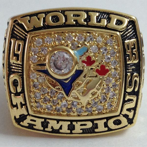 Free shipping, New 1993 Toronto Blue Jays World Series Championship Ring Replica Ring, Copper, Supper Value-in Rings from Jewelry on Aliexpr...