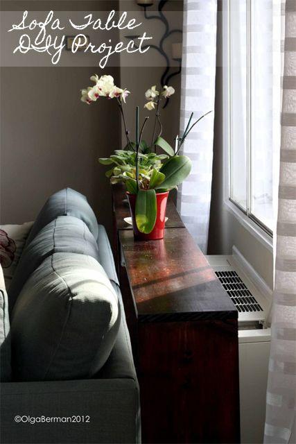 Mango & Tomato: DIY Sofa Table Project...totally doable!
