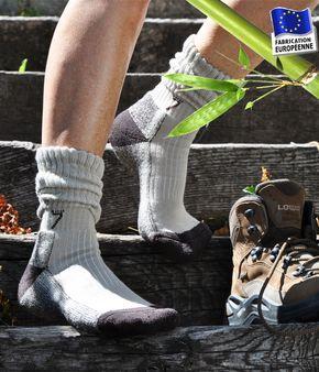Chaussettes de randonnée en bambou Equipement chemin de Compostelle et autres marches. http://www.chau7.fr/chaussette-randonnee-compostelle-bambou.html#