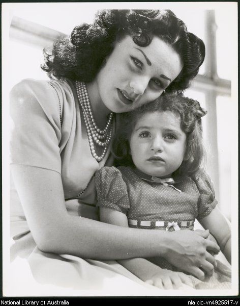 Portrait of Queen Fawzia, the Shah's first wife, and their eldest daughter Princess Shahnaz Pahlavi