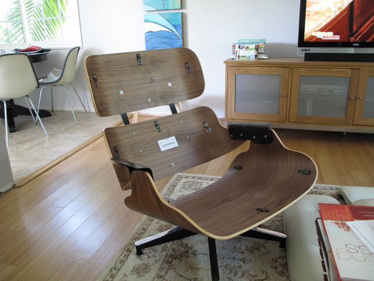 best Eames Lounge Chair and ottoman  on Pinterest