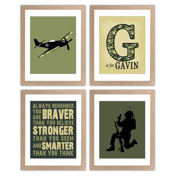 Military Nursery Art Print Army Nursery Wall Art By Inktuitive 40 00 Camo Rooms