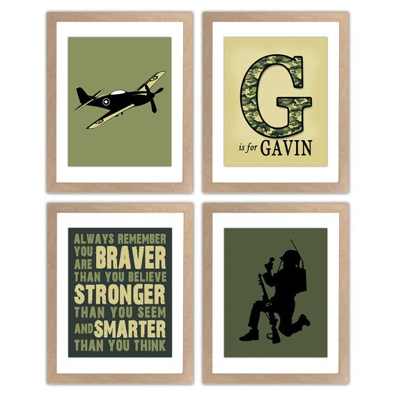 Military Nursery Art Print  Army Nursery Wall Art by inktuitive, $40.00