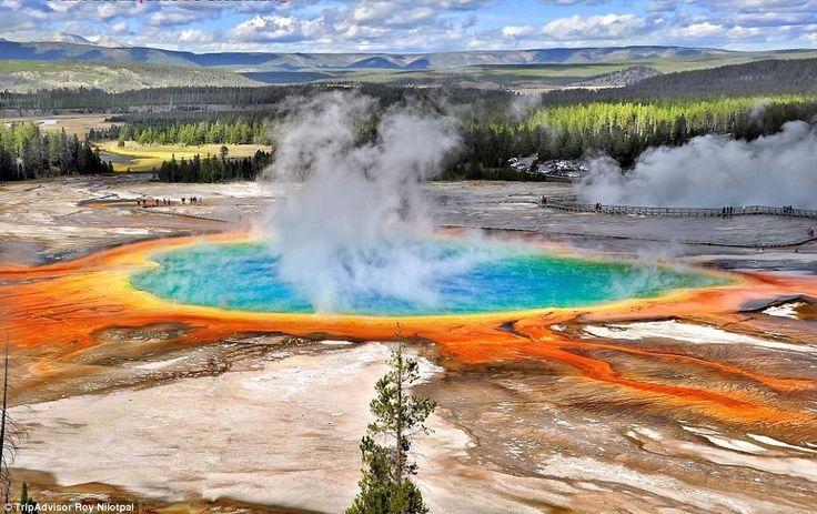 3 ワイオミング州 虹色で彩られた自然の天然温泉であるグランド・プリズマティック・スプリング これぞ世界の秘境26選!どうやって行くかもわからない絶景