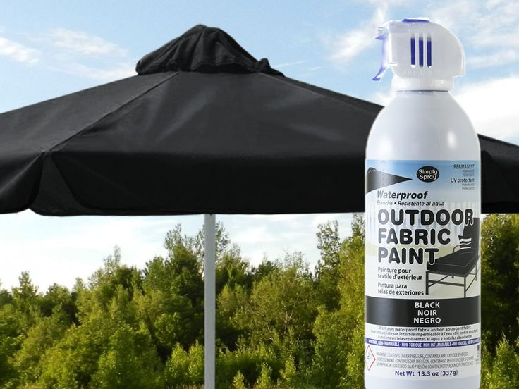 Black Waterproof Outdoor Fabric Spray Paint. Part 76