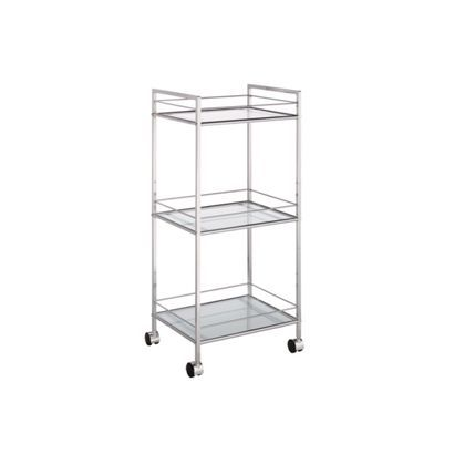 Glass Shelved Bathroom Trolley - 3 Tier