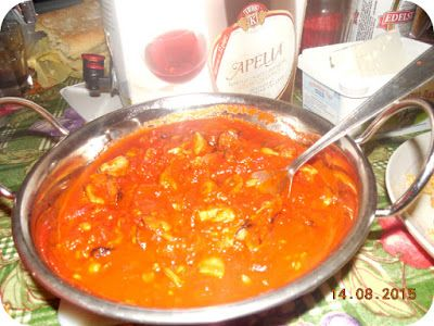 Natural, ca Aloe Vera: Jurnal de Thassos - 14 August 2015. Mussels saganaki in tomato sauce