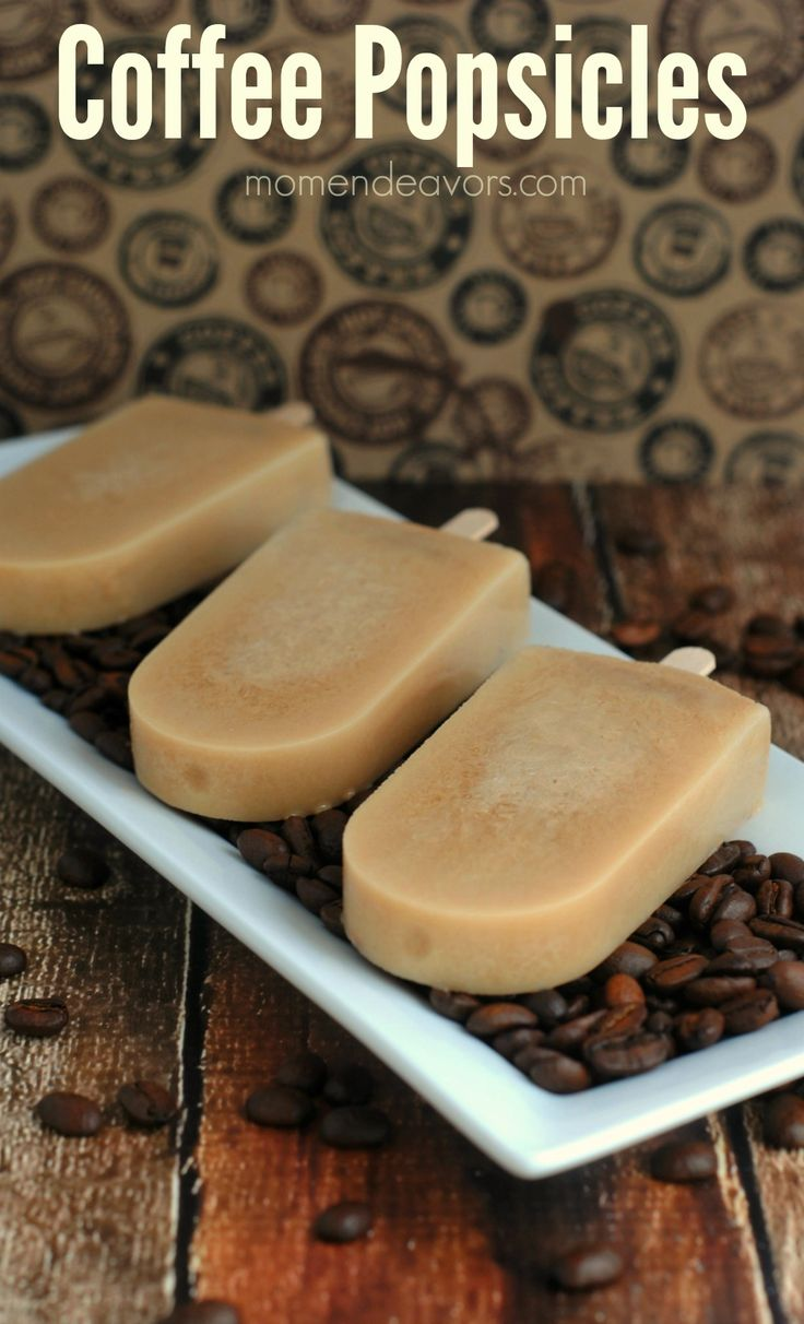 Want coffee but it's too hot out? Make some Coffee Popsicles! #coffee #popsicles #floridaheat