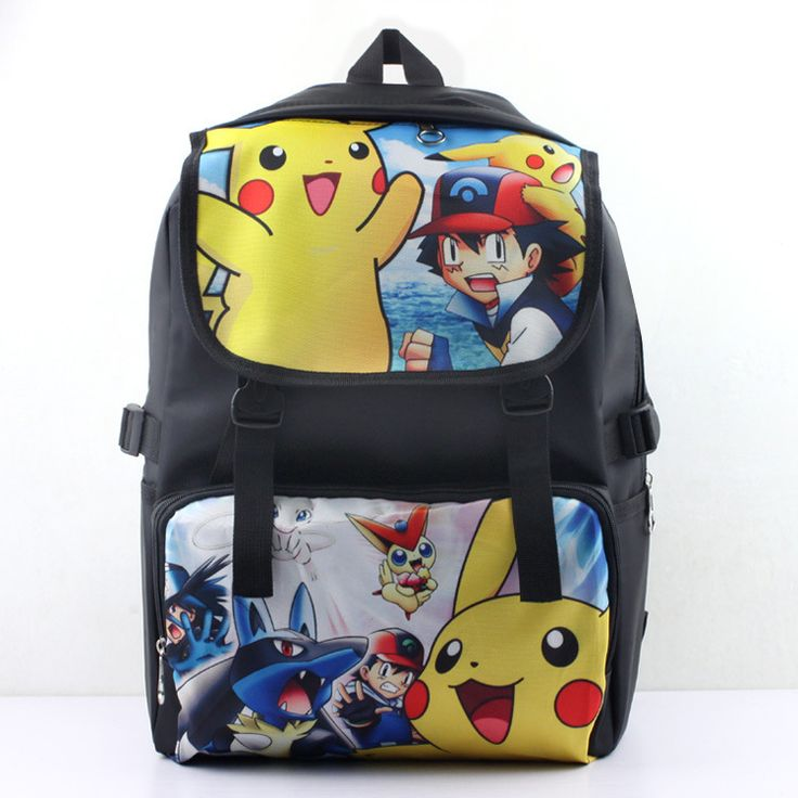 2015 anime/game backpack Pokemon backpack two verions high quality anti water nylon material best gift for fans AB115