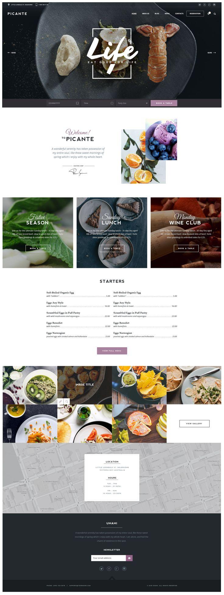 Picante – Restaurant & Food WordPress Theme