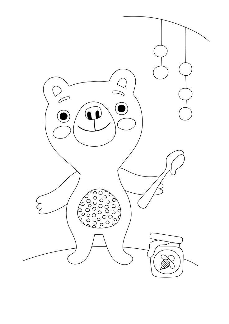 Värityskuva | free printable pattern | lasten | lapset | joulu | idea | askartelu | kädentaidot | käsityöt | tulostettava | kuva | paperi | värittäminen | väritys | värittää | karhu | nalle | koti | leikki | DIY | ideas | kids | children | crafts | paper | picture | coloring | bear | christmas | home | Pikku Kakkonen