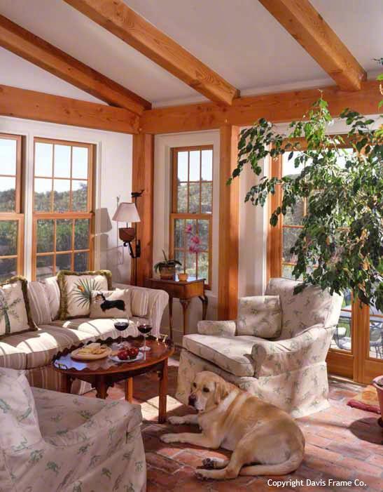 54 best timber frame sunroom images on pinterest cottage for Timber frame sunroom addition